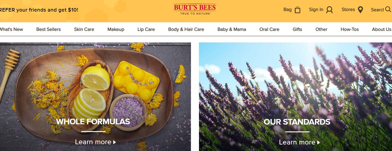 brand storytelling burts bees