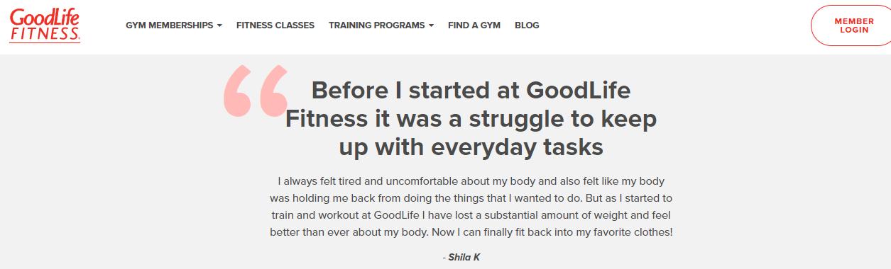 brand storytelling goodlife fitness