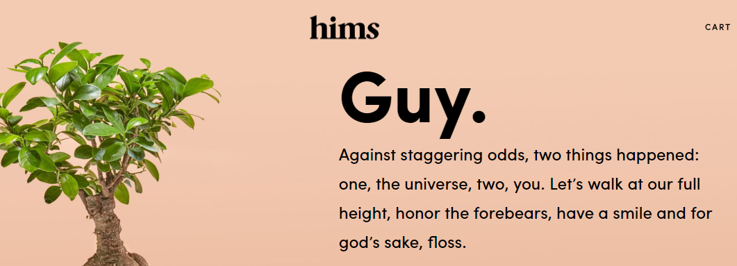 brand storytelling hims