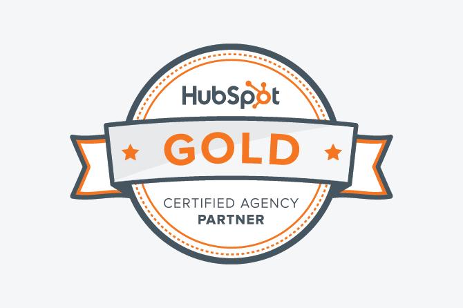 Woo-hoo! We're HubSpot Gold Partners